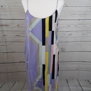 Tibi 100% Silk Multicolored Dress Size 4